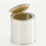 Lever lid cans inside coated