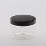 with plastic lids