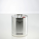 Cylindrical metal container 10 litre UN