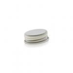 Schraubkappen Aluminium 33mm silber