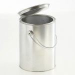 Lever lid pails 2.500 ml with handle