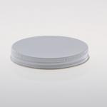 Alu Schraubkappen 89 mm weiß