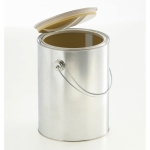 Lever lid pails inside coated 2.500 ml with handle