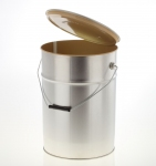 Metal pail inside coated 10 litre UN