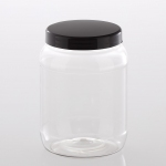 "PET Jar ""Recessed"" 1.500 ml with plastic lid"