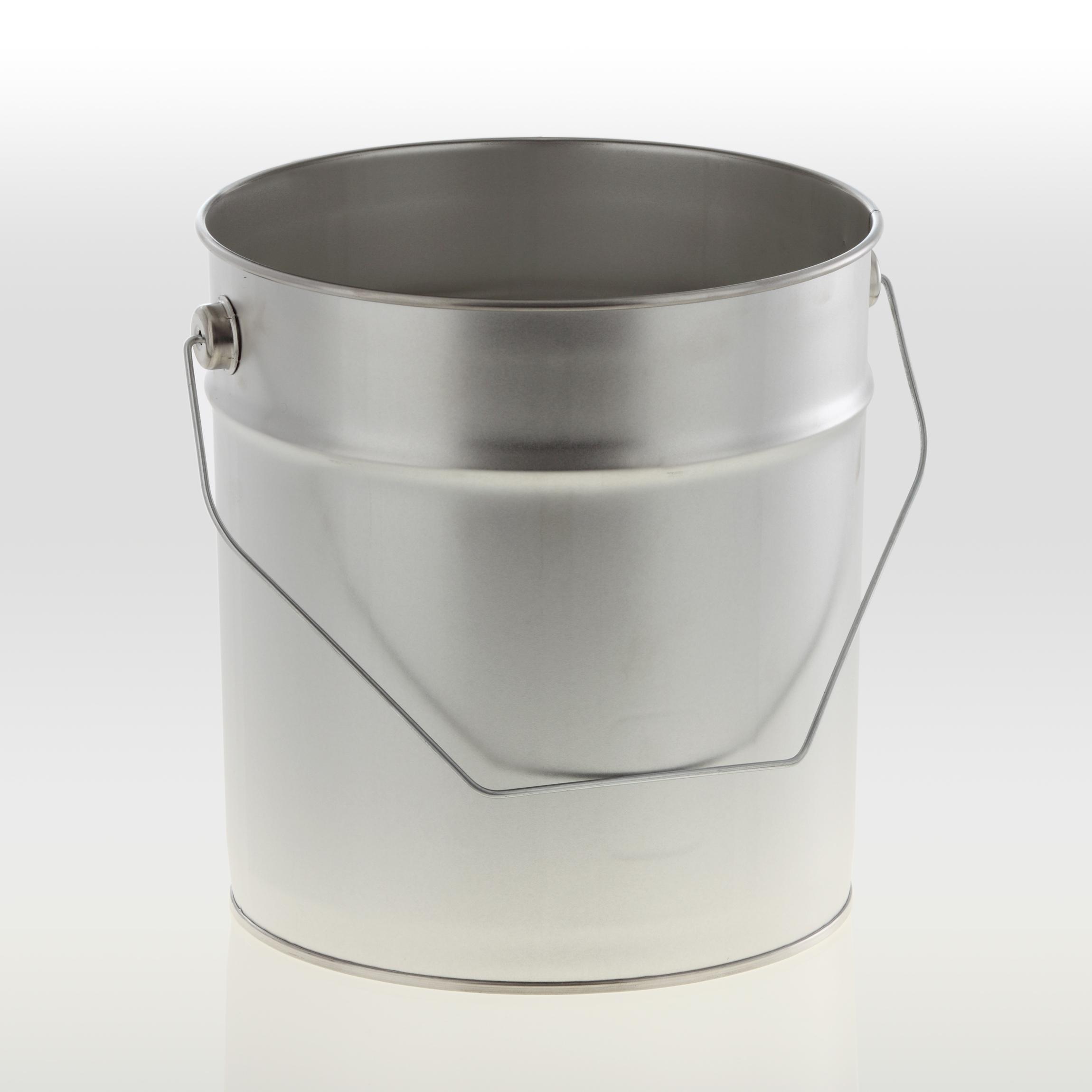 Metalleimer konisch 5 Liter OHNE Deckel & Spannring