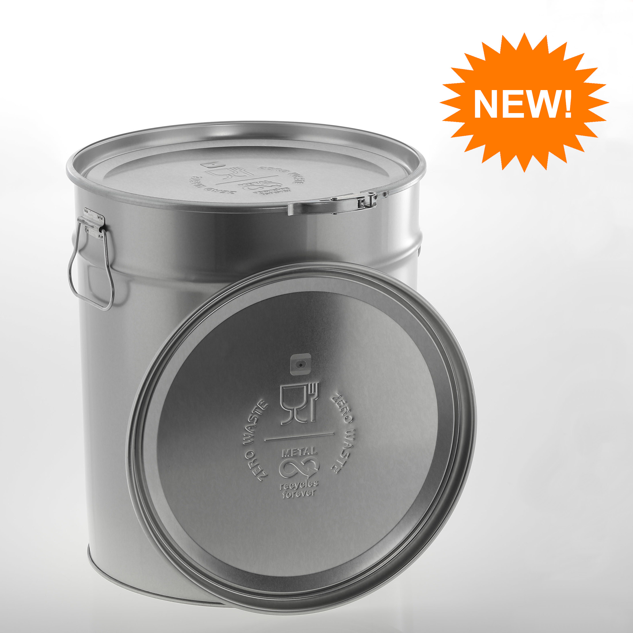 Roasting pail 30 litre vent hole and embossing