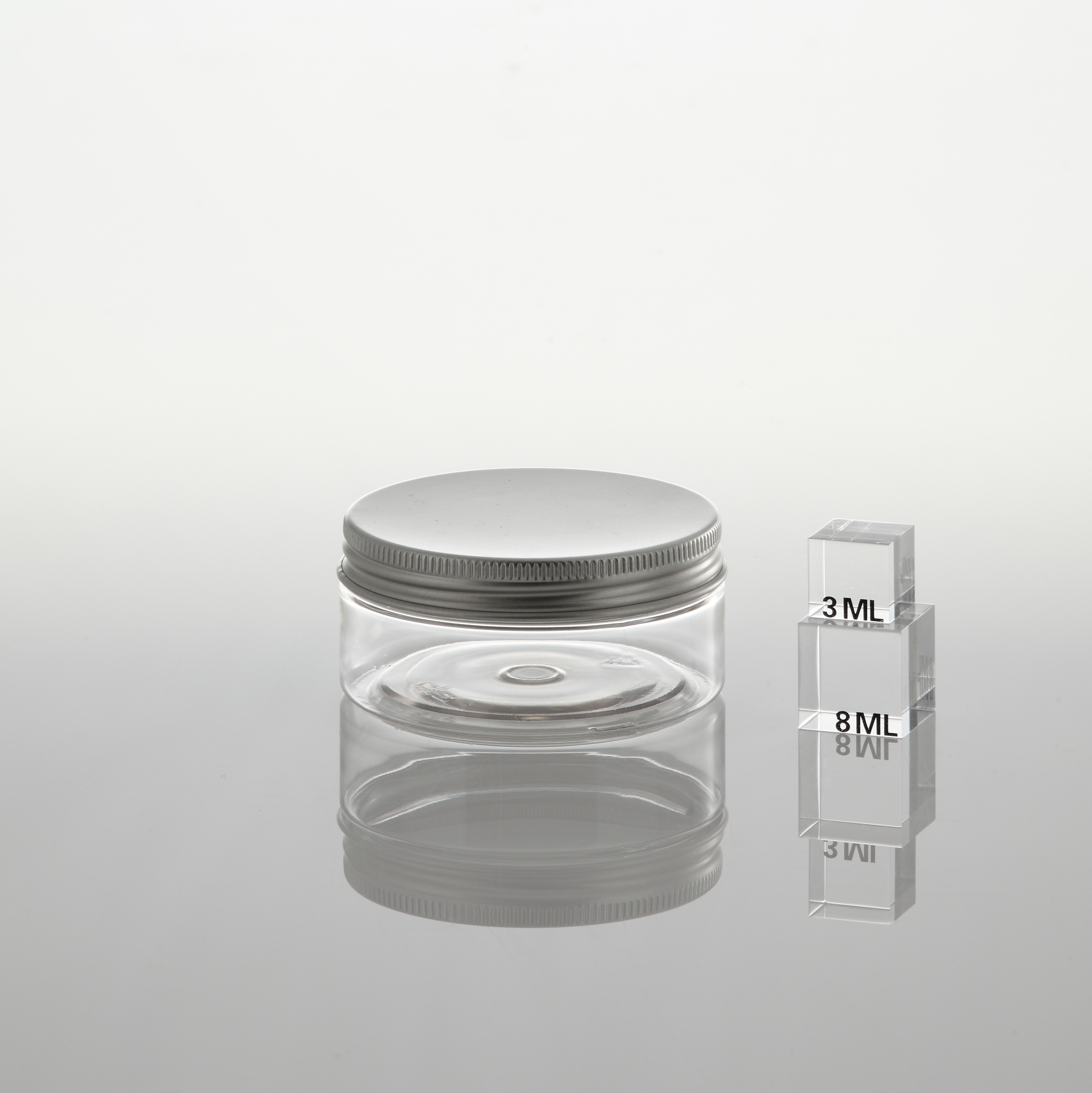 """PET Jar """"SC 70"""" 50 ml with inside cover"""